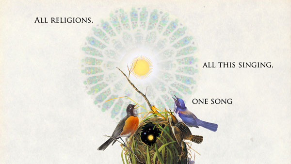 all religions, all this singing, one song